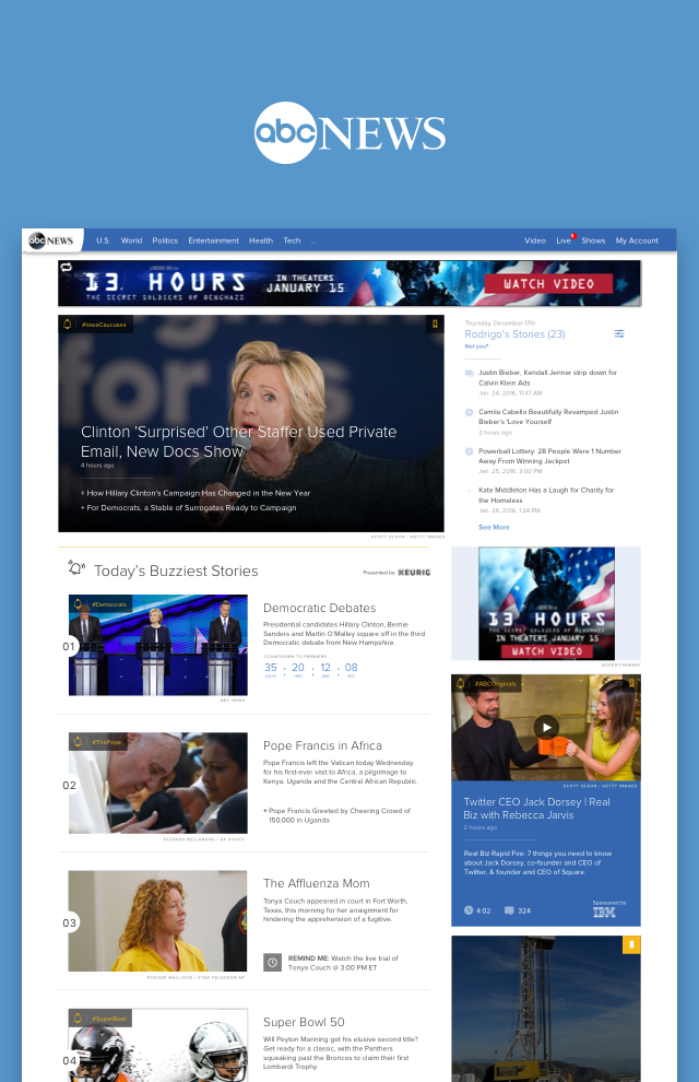ABC News Homepage Redesign